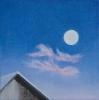 Mond über Hütte