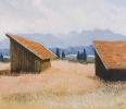 Hütten im Moor