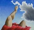 Wolken wegtreten